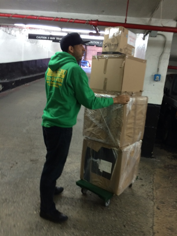 moving our customer to our nyc mini storage  unit 2